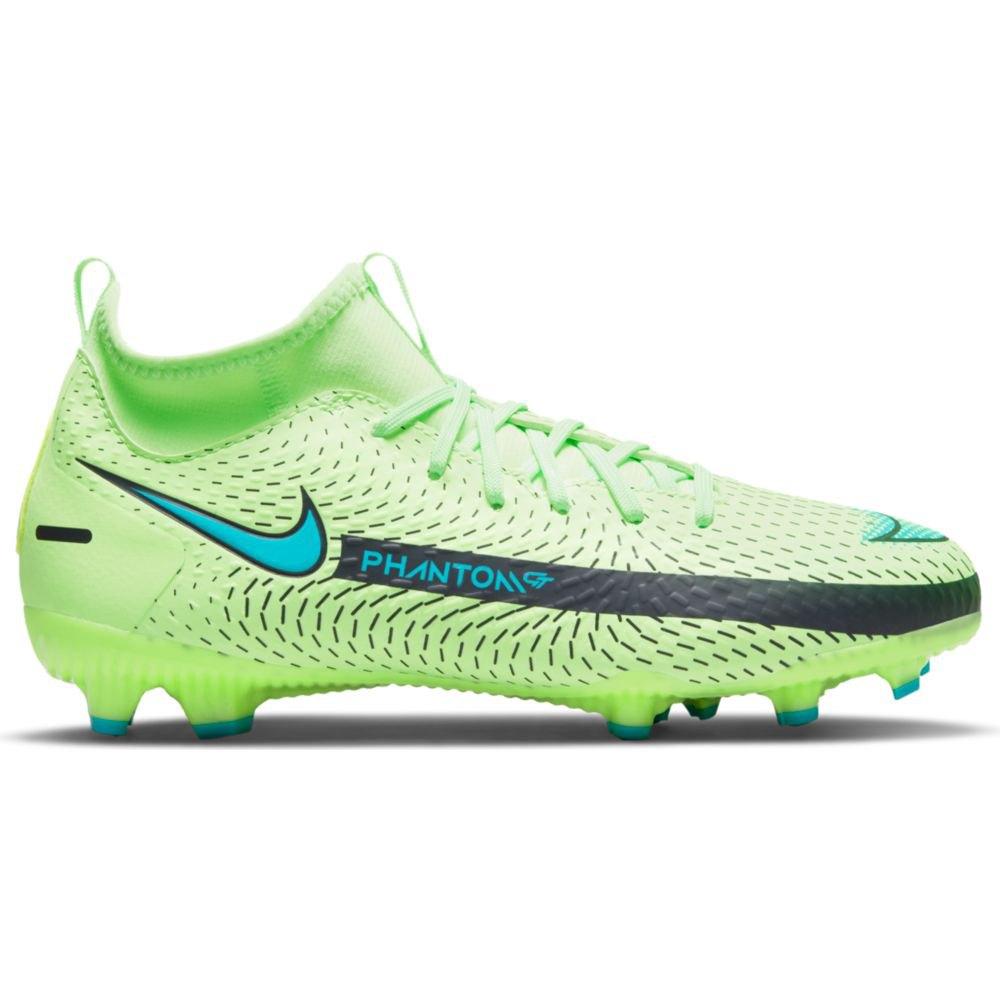 Nike Chaussures Football Phantom Gt Academy Df Fg/mg EU 38 1/2 Lime Glow / Aquamarine