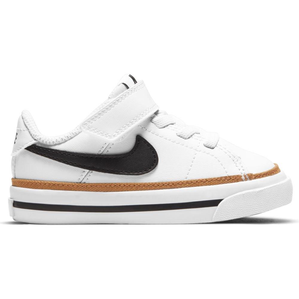 Nike Chaussures Court Legacy EU 21 White / Black / Desert Ochre / Gum Light Brown