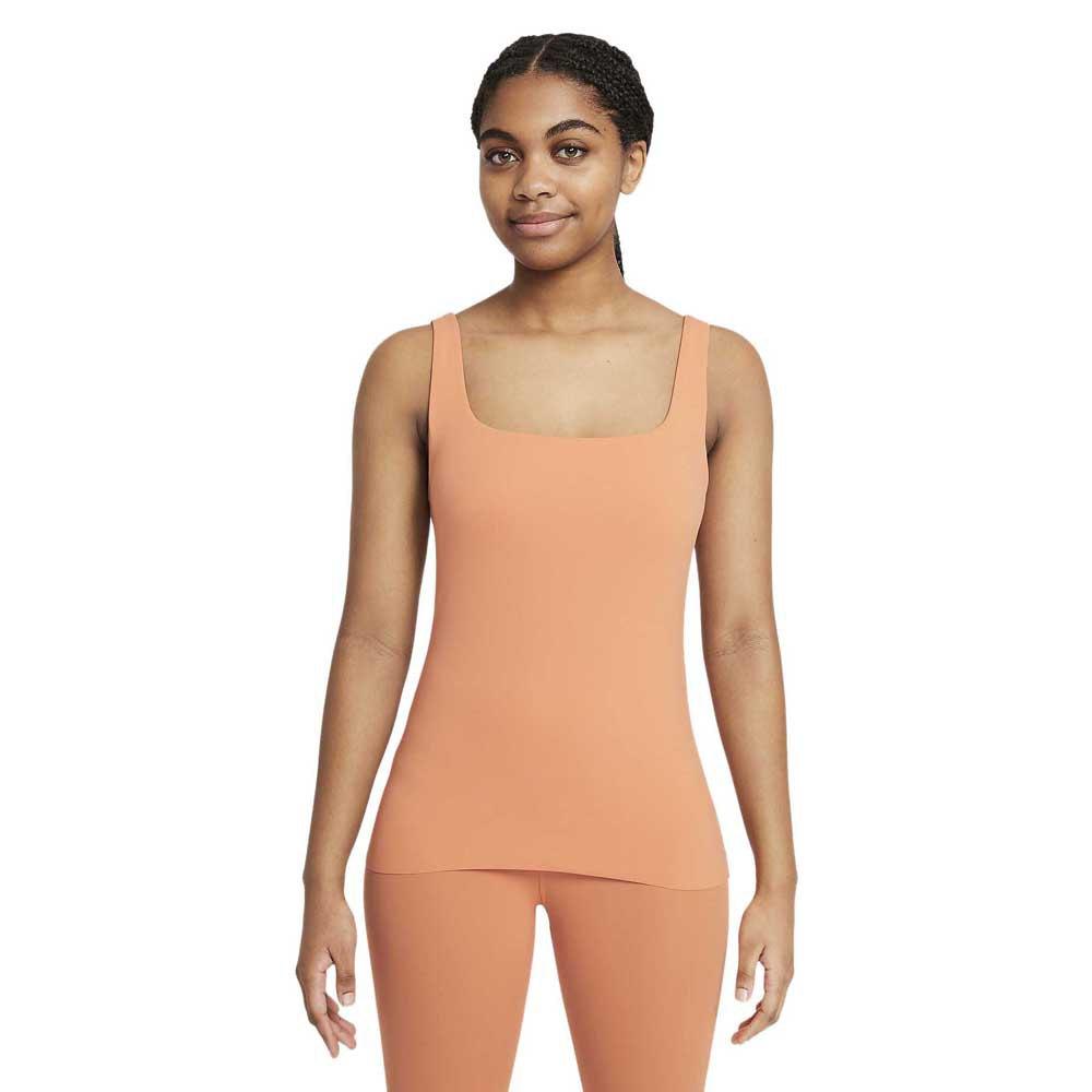 Nike T-shirt Sans Manches Yoga Luxe Shelf S Healing Orange / Apricot Agate