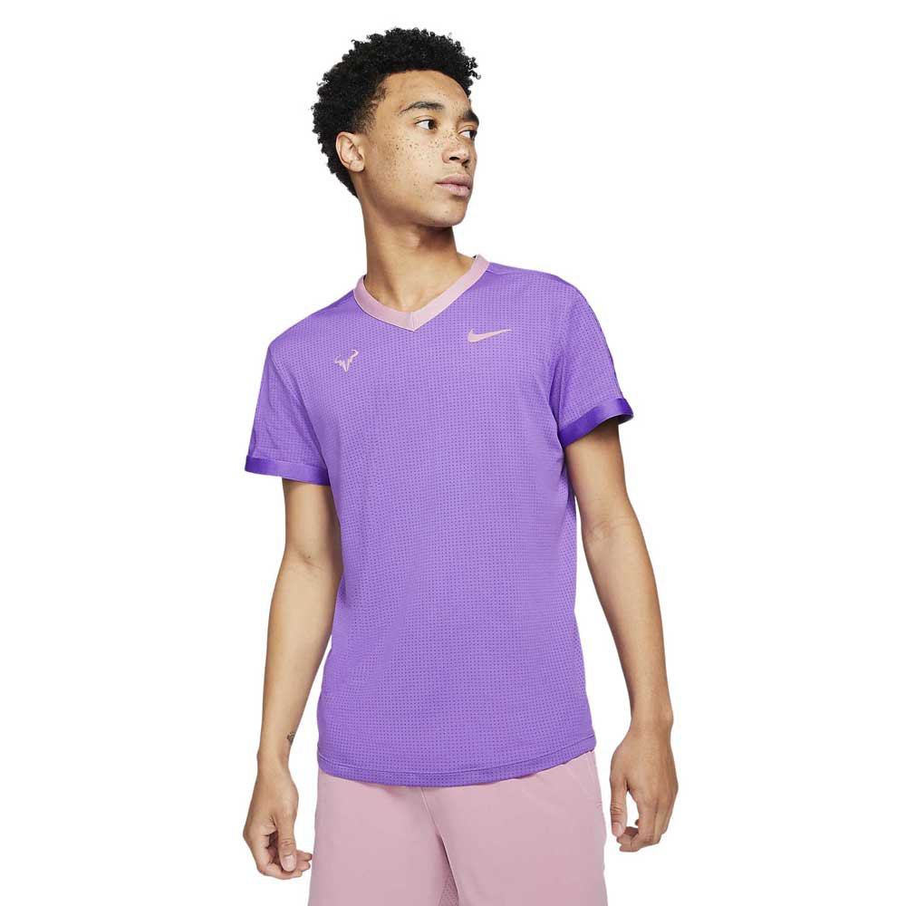 Nike T-shirt Manche Courte Court Dri Fit Advantage Rafa S Wild Berry / Elemental Pink / Elemental Pink