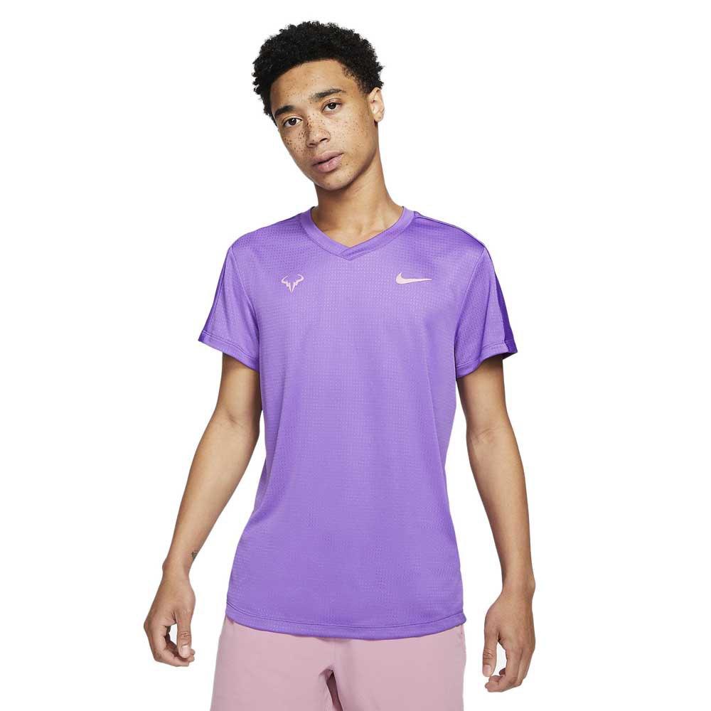 Nike T-shirt Manche Courte Court Rafa Challenger M Wild Berry / Elemental Pink