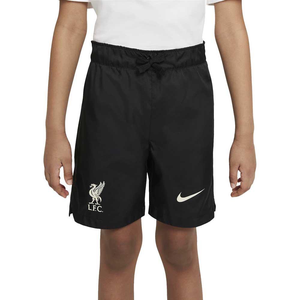 Nike Pantalons Liverpool Fc Woven 21/22 Junior M Black / Fossil