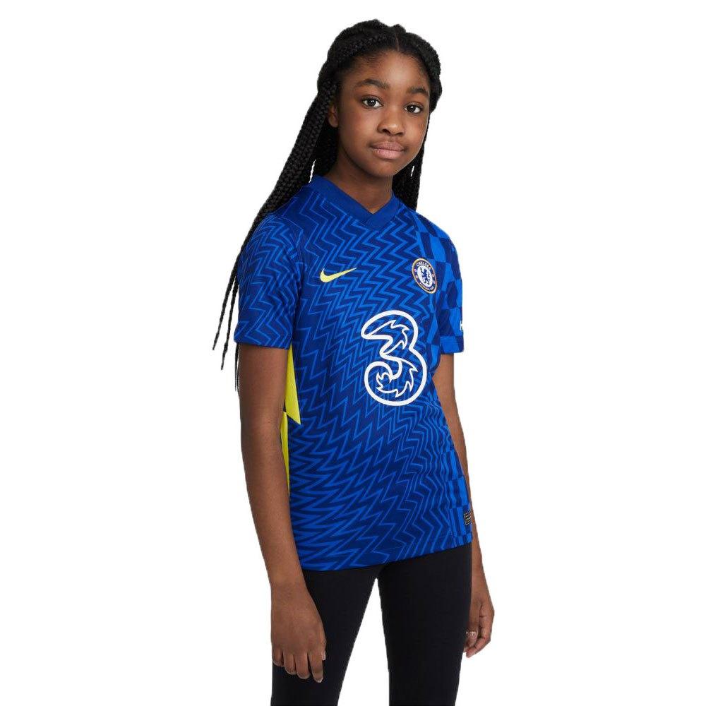 Nike Chelsea Fc Stadium Domicile 21/22 Junior S Lyon Blue / Opti Yellow