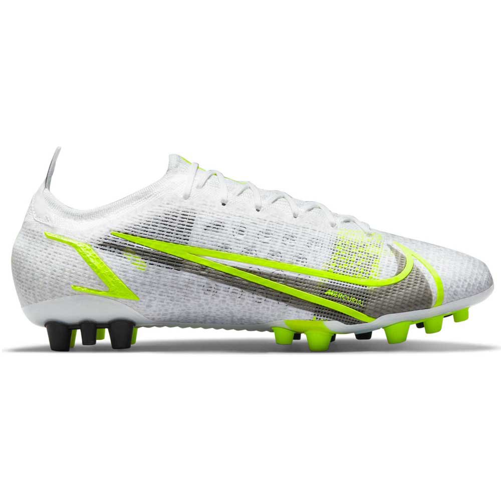 Nike Mercurial Vapor Xiv Elite Ag Football Boots EU 46 White / Black / Metallic Silver / Volt