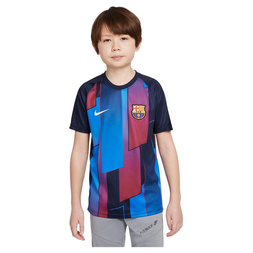 Nike T-shirt Fc Barcelona Avant Match 21/22 Junior S Soar / Obsidian / Pale Ivory