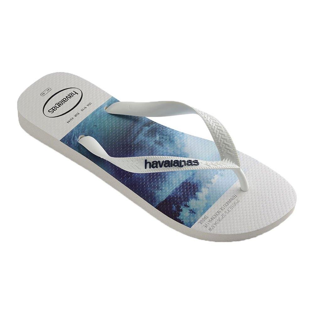 Havaianas Tongs Hype EU 49-50 White / White / Blue