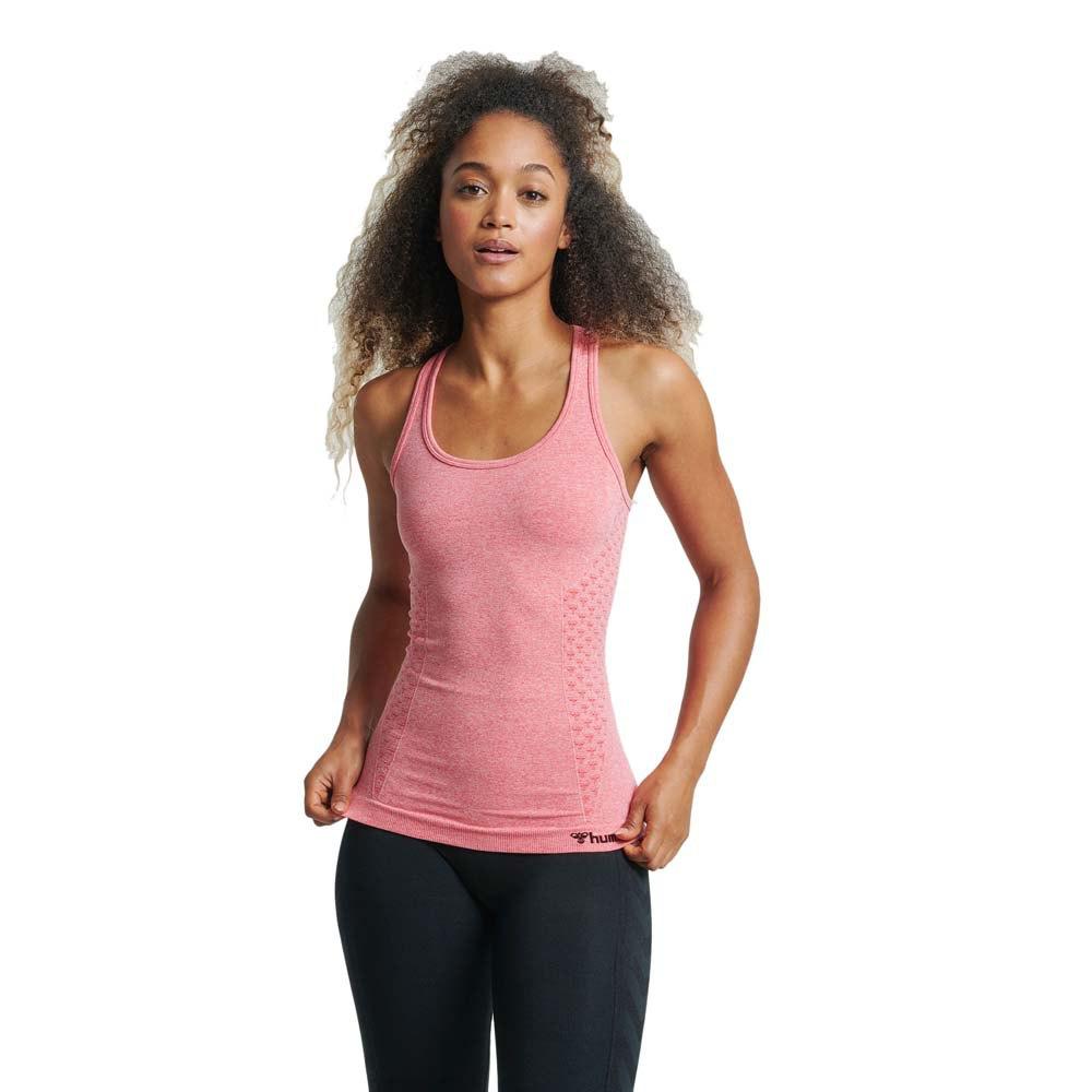 Hummel T-shirt Sans Manches Ci Seamless M Sugar Coral Melange