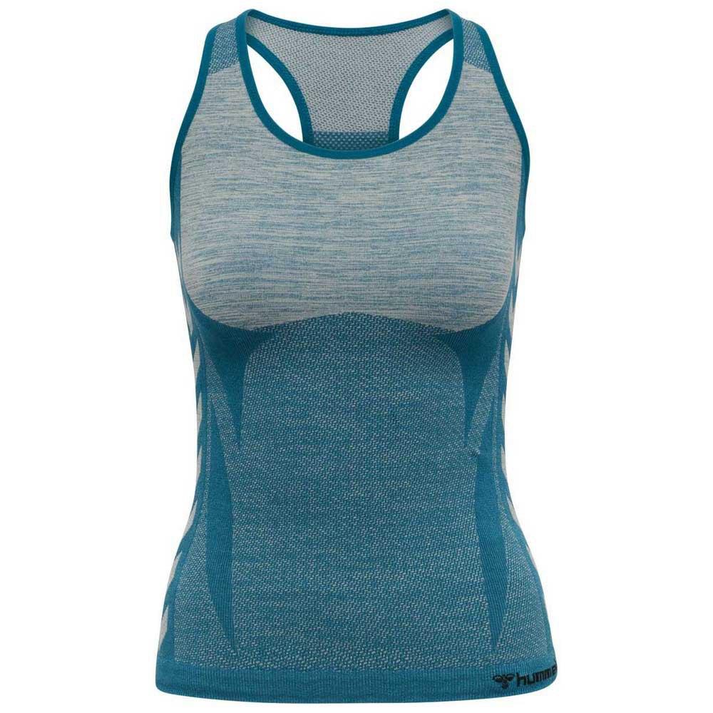 Hummel T-shirt Sans Manches Cleaa Seamless S Blue Coral / Marshmallow