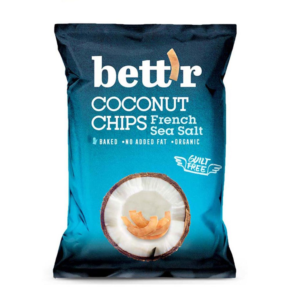 Bettr Coconut Chips 40 Gr French Sea Salt Bio One Size