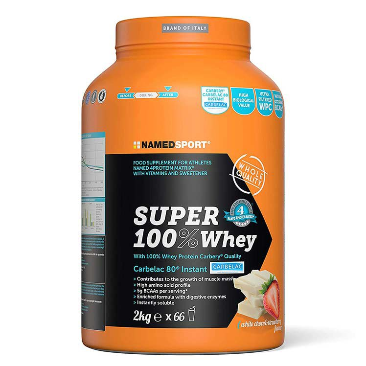 Named Sport Super 100% Whey 2kg White Chocolate&strawberry One Size