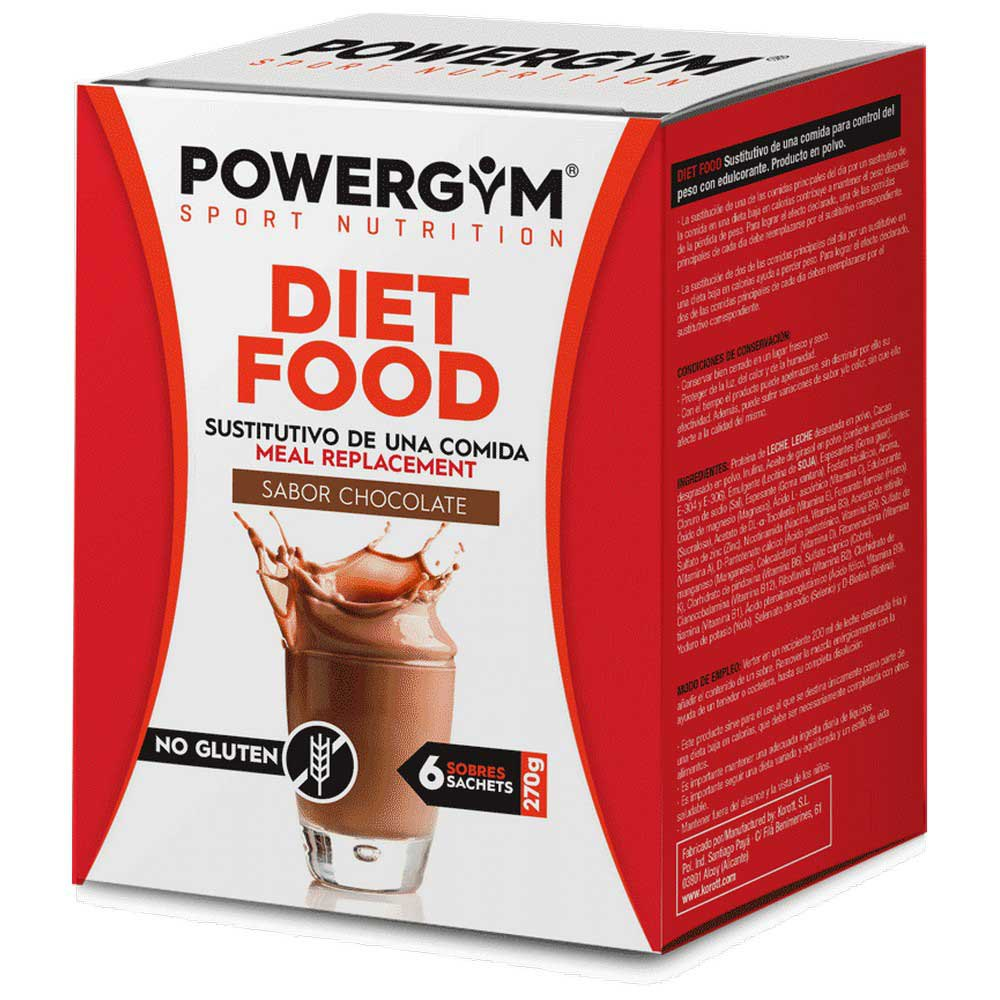 Powergym Diet Food 45g 6 Units Chocolate One Size