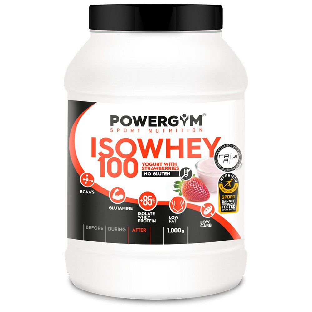 Powergym Iso Whey 100 1 Kg Yoghourt With Strawberries One Size