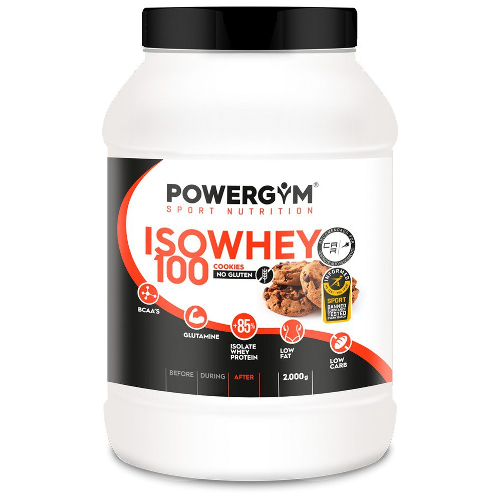 Powergym Iso Whey 100 2 Kg Biscuits One Size