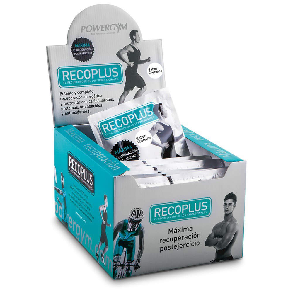Powergym Recoplus 80g 15 Units Chocolate One Size