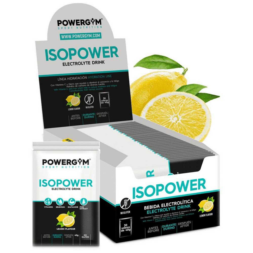 Powergym Isopower 40g 30 Units Lemon One Size