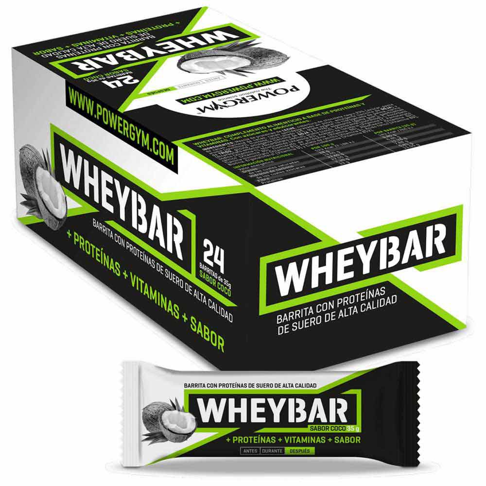 Powergym Whey Bar 35g 24 Units Coconut One Size