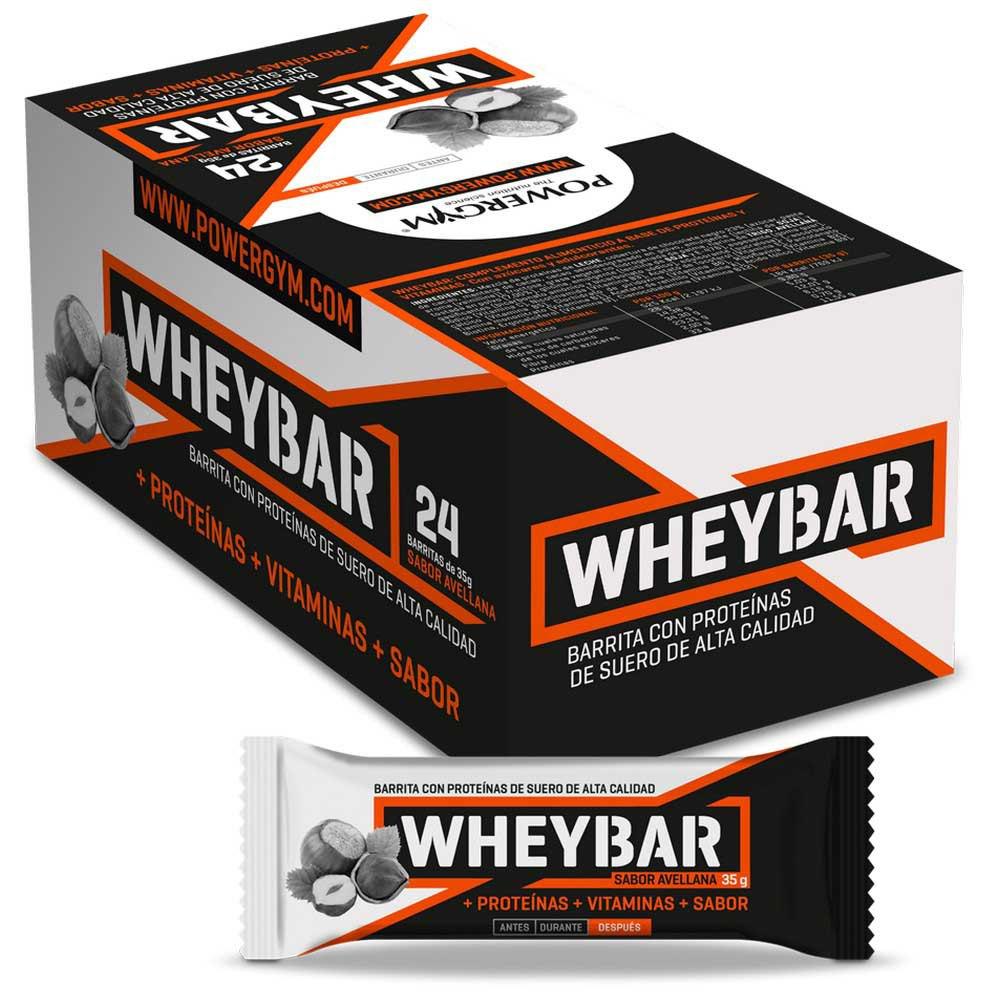 Powergym Whey Bar 35g 24 Units Hazelnut One Size