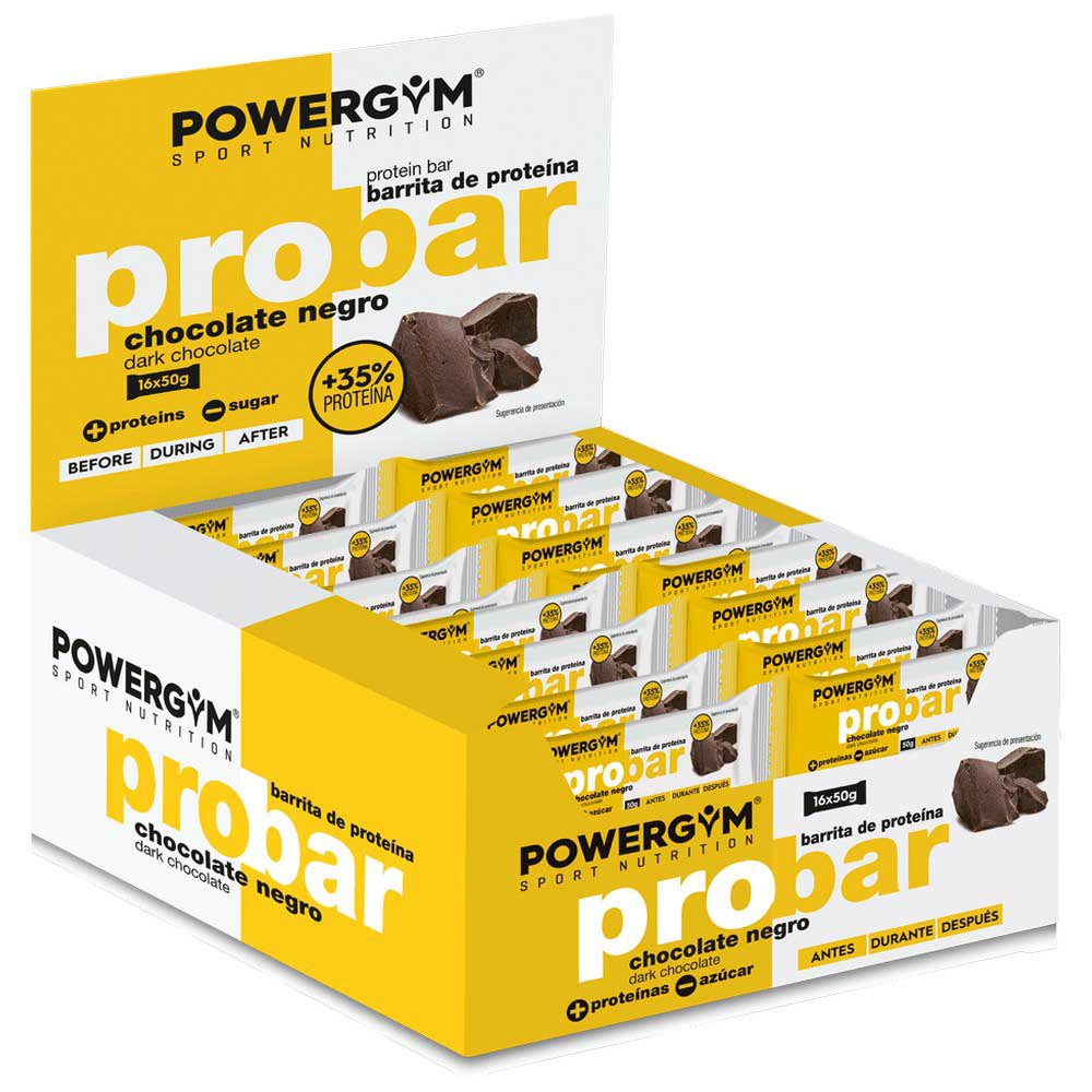Powergym Probar 50g 16 Units Dark Chocolate One Size