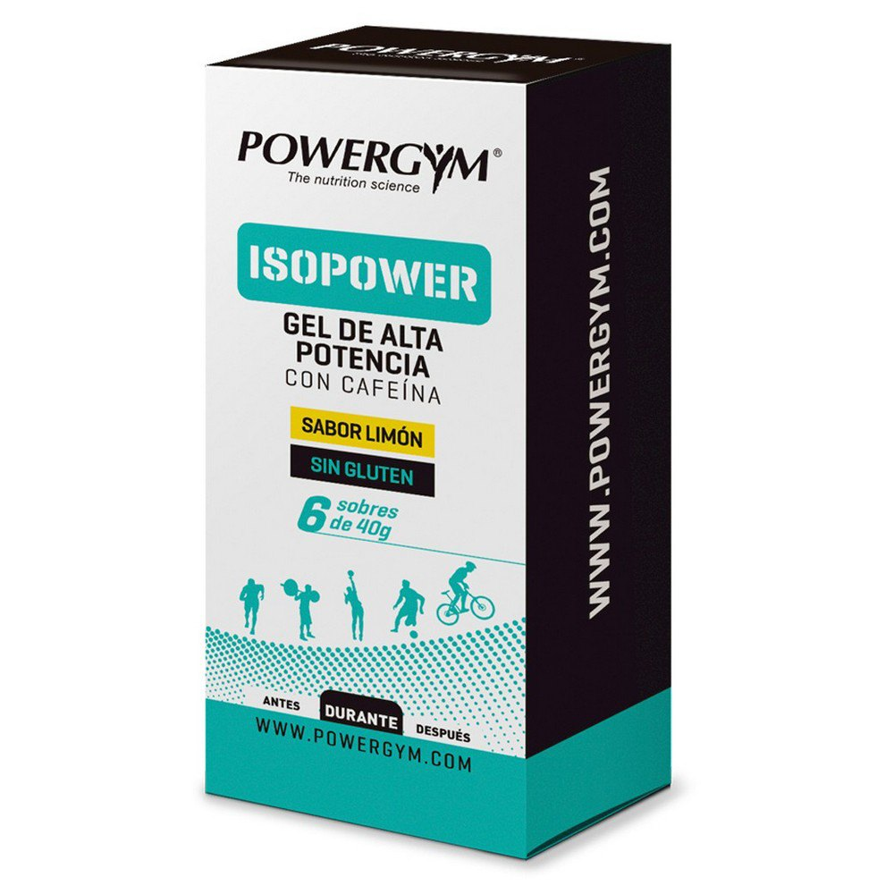 Powergym Isopower Gel 40g 6 Units Lemon & Caffeine One Size