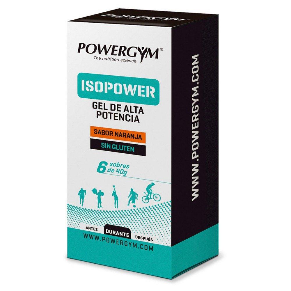 Powergym Isopower Gel 40g 6 Units Orange One Size