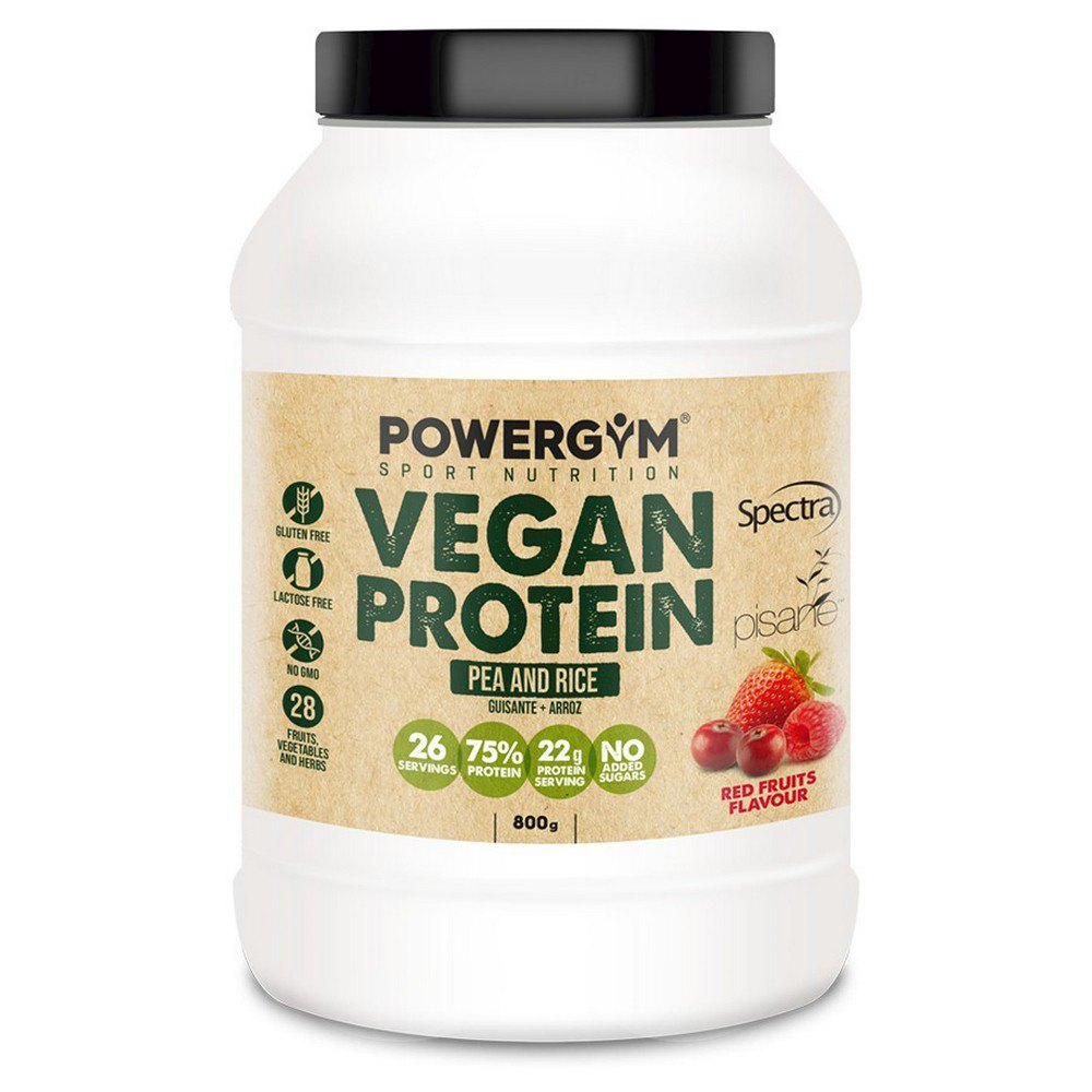 Powergym Vegan Protein 800g Red Fruits One Size