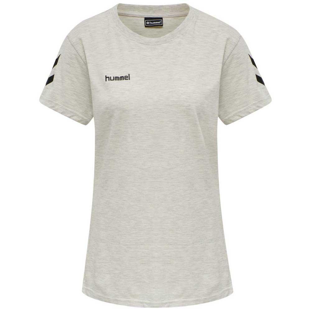 Hummel T-shirt Manche Courte Go Cotton XS Egret Melange