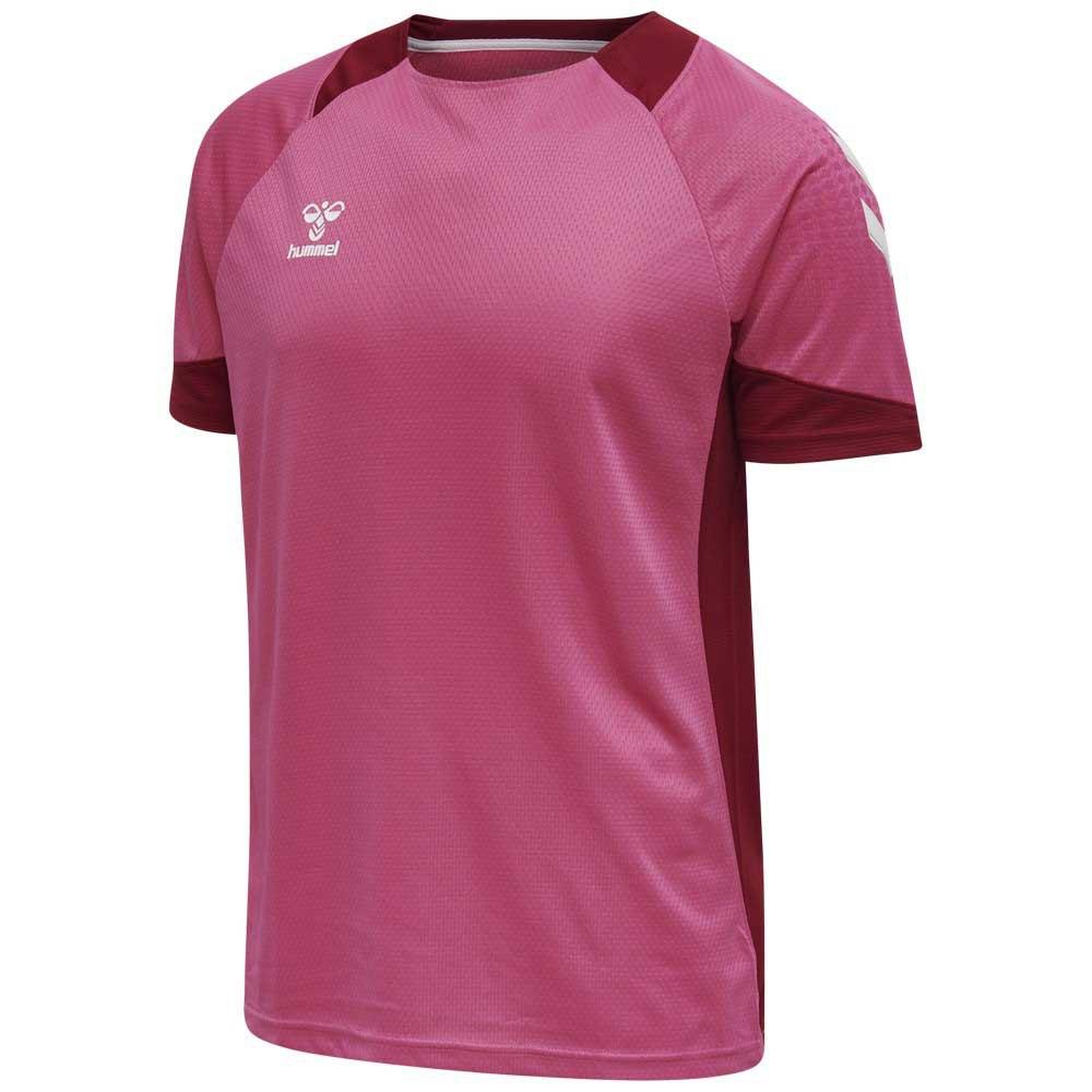 Hummel T-shirt Manche Courte Lead Poly 116 cm Raspberry Sorbet