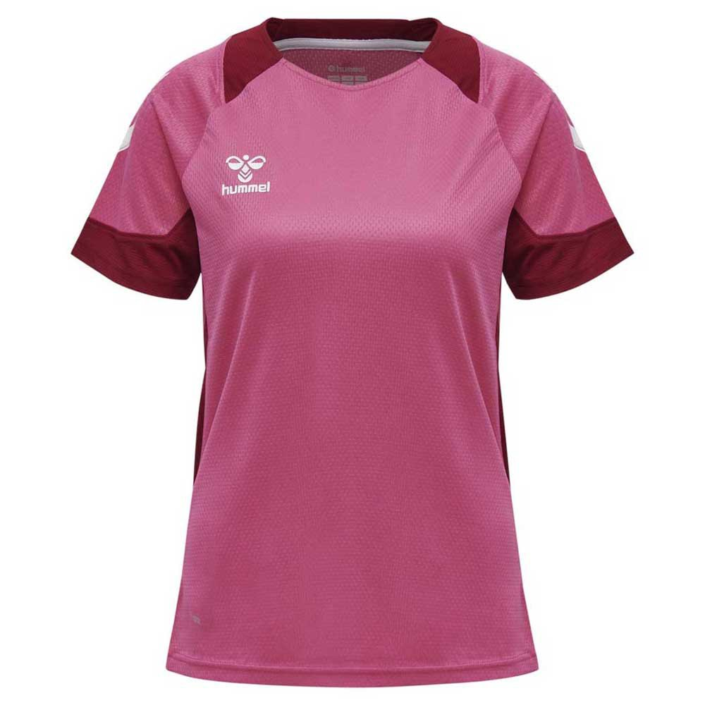 Hummel T-shirt Manche Courte Lead Poly XS Raspberry Sorbet