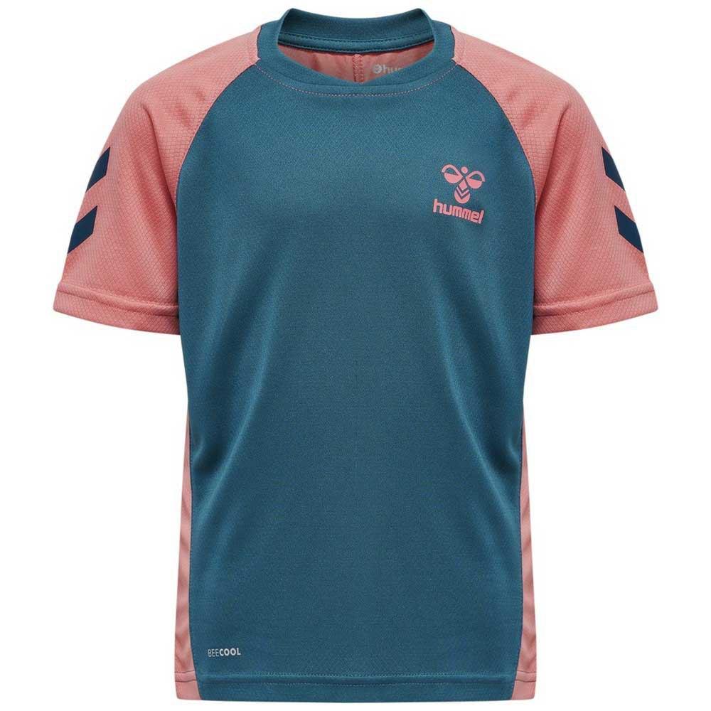 Hummel T-shirt Manche Courte Action 116 cm Blue Coral / Tea Rose