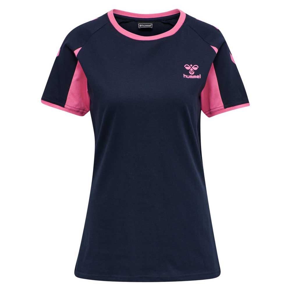 Hummel T-shirt Manche Courte Action Cotton XS Black Iris / Sugar Plum