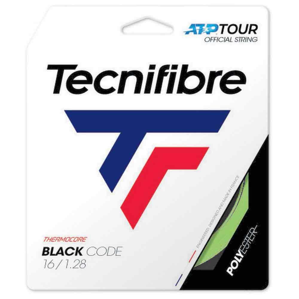 Tecnifibre Cordage Unité Tennis Black Code 12 M 1.24 mm Lime