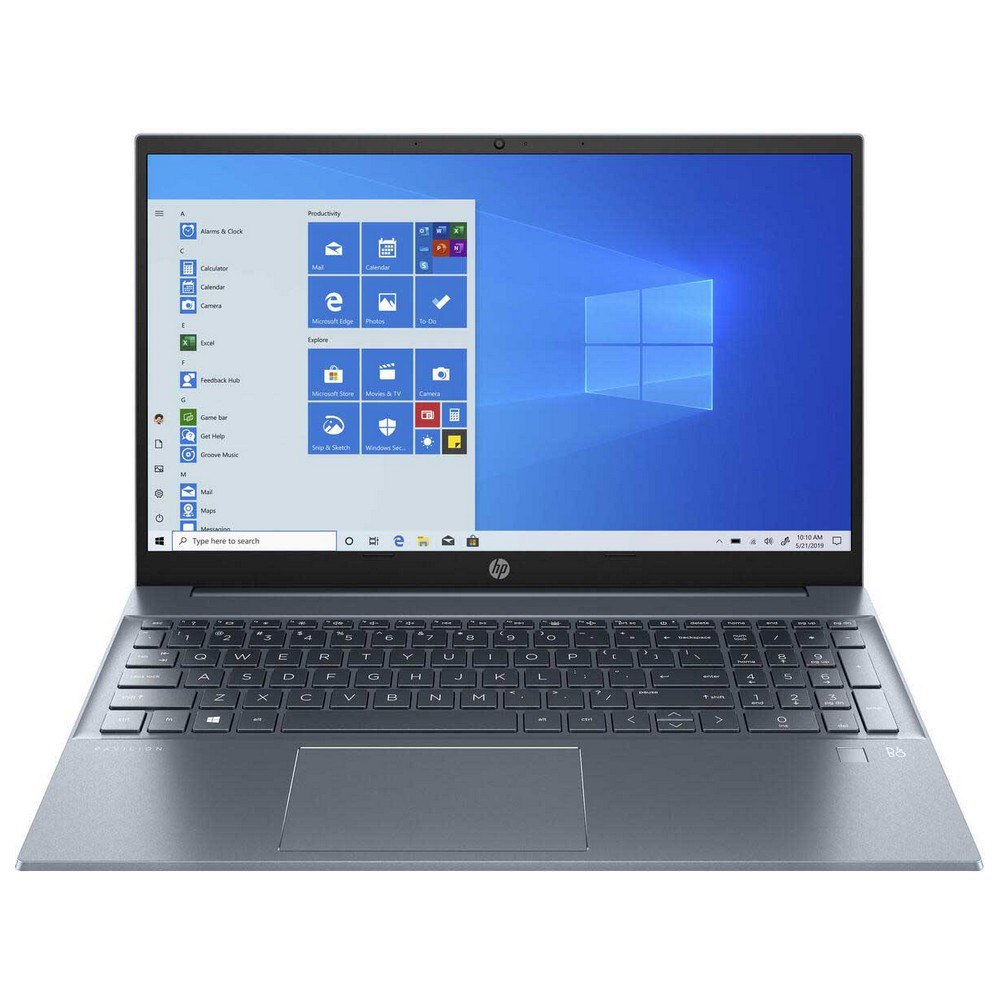 Portátil Hp 15-eg0001ns 15.6'' I7-1165g7/8gb/512gb Ssd/mx 450 2gb Spanish QWERTY Blue Fog