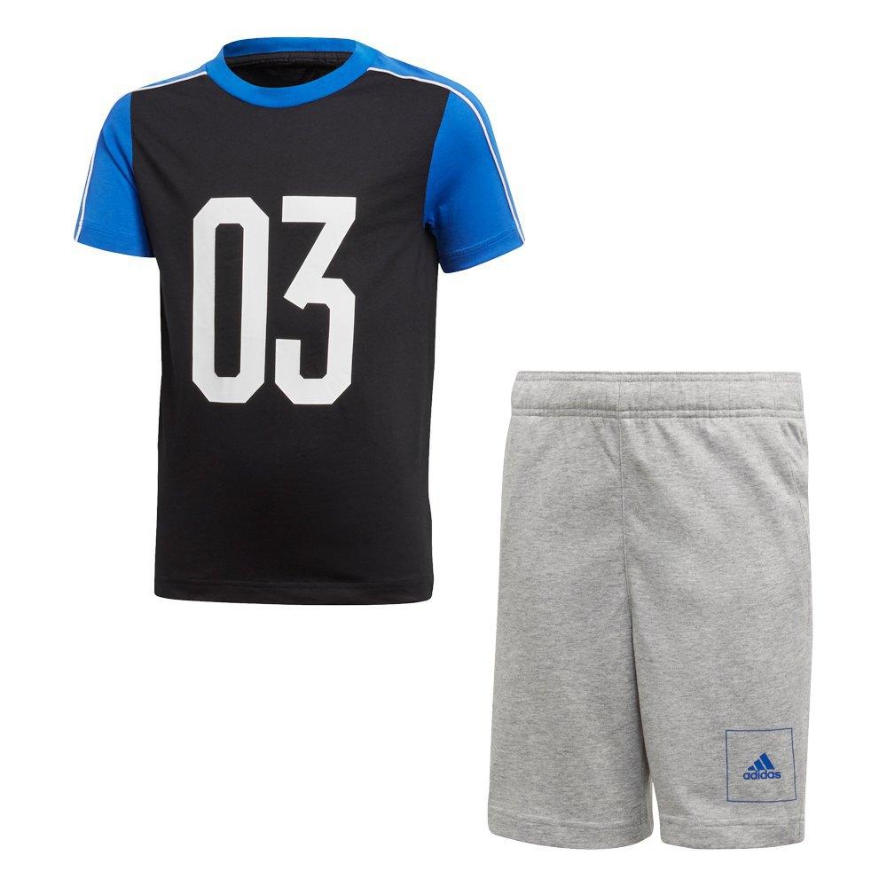 Adidas Athletics Sport Été Reconditionné 152 cm Black / Blue / White