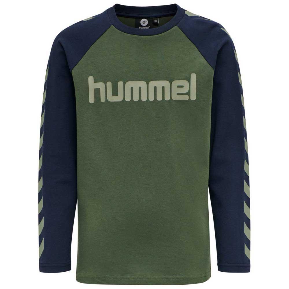 Hummel Boys T-shirt Manche Longue 104 cm Thyme / Black Iris