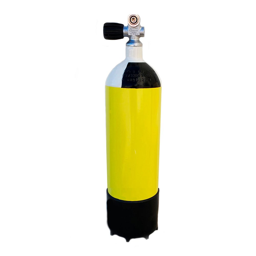 Metalsub Monoventil 5l 200 Bar Yellow Black White Sauerstoffflaschen Monoventil 5l 200 Bar