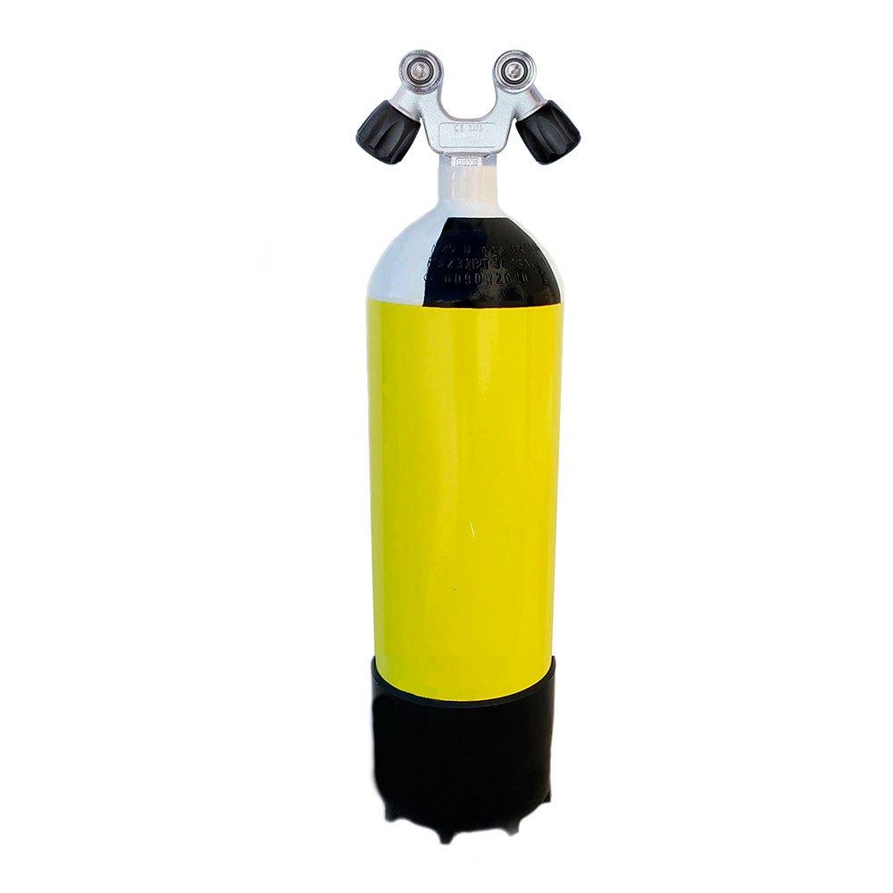 Metalsub Doppelventil V 10l 232 Bar Yellow Black White Sauerstoffflaschen Doppelventil V 10l 232 Bar