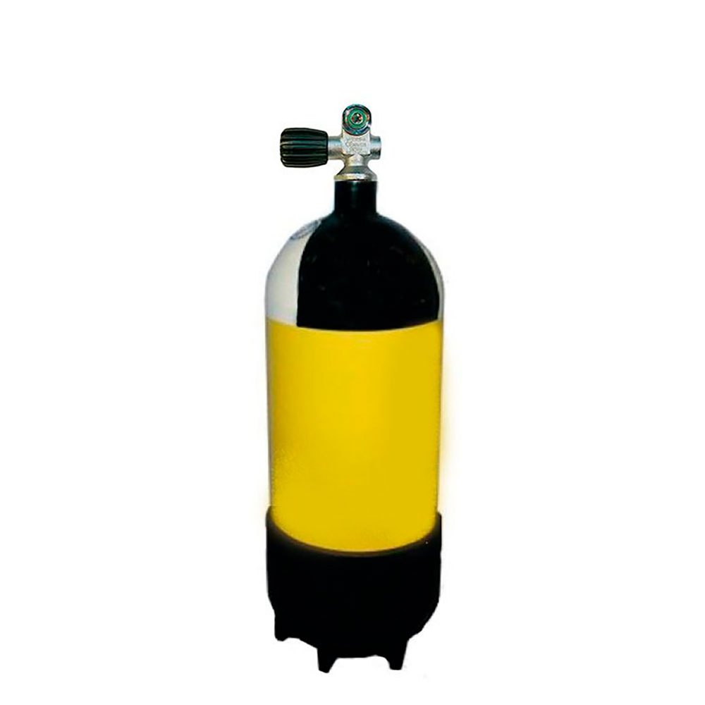 Metalsub Monoventil 12l 232 Bar Yellow Black White Sauerstoffflaschen Monoventil 12l 232 Bar