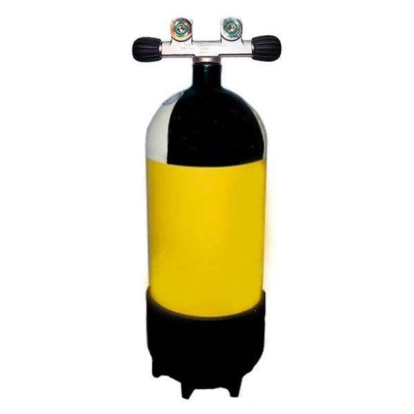 Metalsub Doppelventil Reihe 12l 232 Bar Yellow Black White Sauerstoffflaschen Doppelventil Reihe 12l 232 Bar