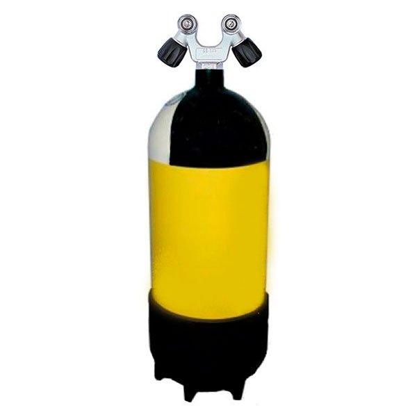 Metalsub Doppelventil V 12l 232 Bar Yellow Black White Sauerstoffflaschen Doppelventil V 12l 232 Bar