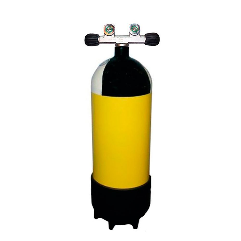 Metalsub Doppelventil Reihe 15l 232 Bar Yellow Black White Sauerstoffflaschen Doppelventil Reihe 15l 232 Bar