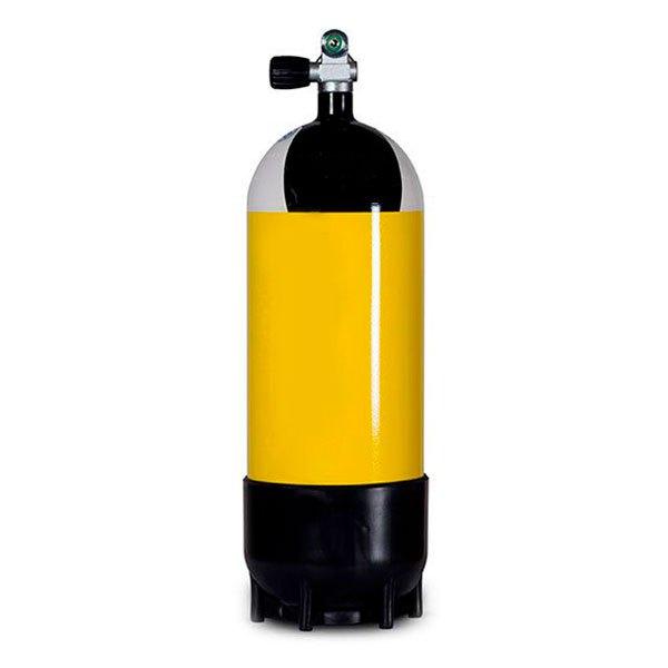 Metalsub Monoventil 18l 232 Bar Yellow Black White Sauerstoffflaschen Monoventil 18l 232 Bar