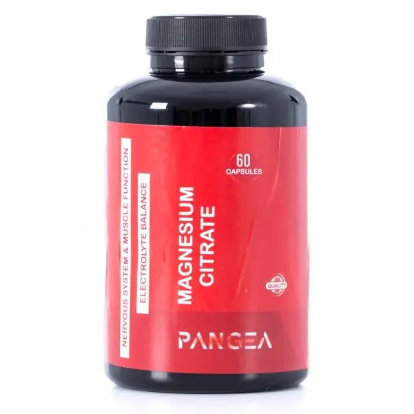 Pangea Magnesium Citrate 60 Units One Size