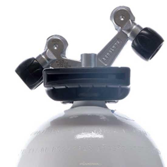 Aqualung O2 Tag-ventil 15l 232 Bar Black White Sauerstoffflaschen O2 Tag-ventil 15l 232 Bar