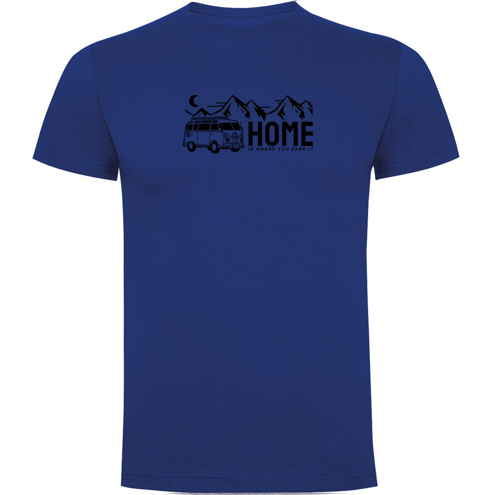 Kruskis T-shirt Manche Courte Home S Royal Blue