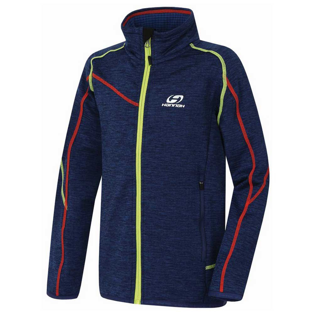 Hannah Gery Full Zip Polar Fleece 116 cm Blue Quartz Melange