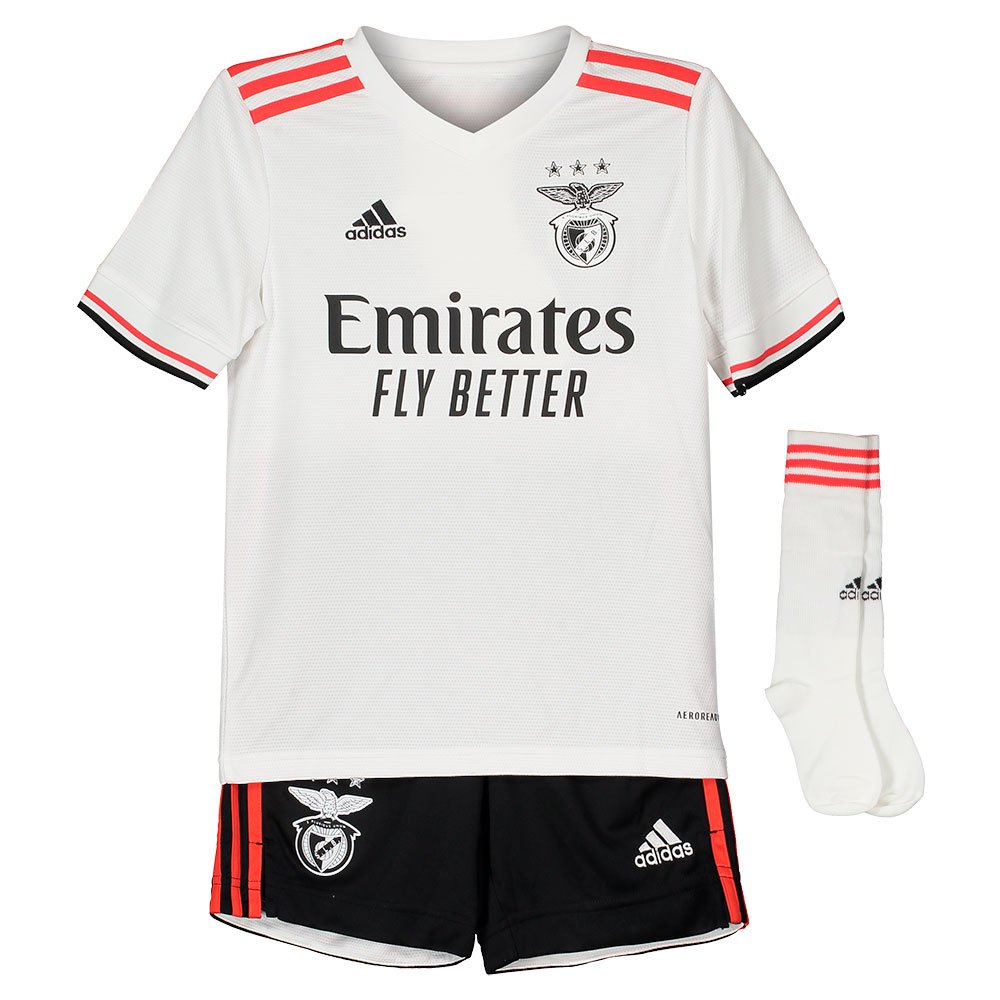 Adidas Mini Kit Sl Benfica 21/22 Extérieur Junior 128 cm White 1