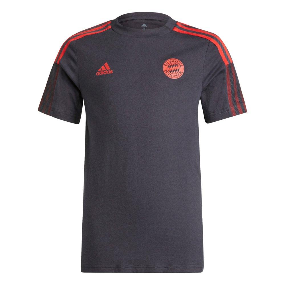 Adidas T-shirt D´entraînement Manches Courtes Fc Bayern Munich 21/22 Junior 164 cm Night Grey