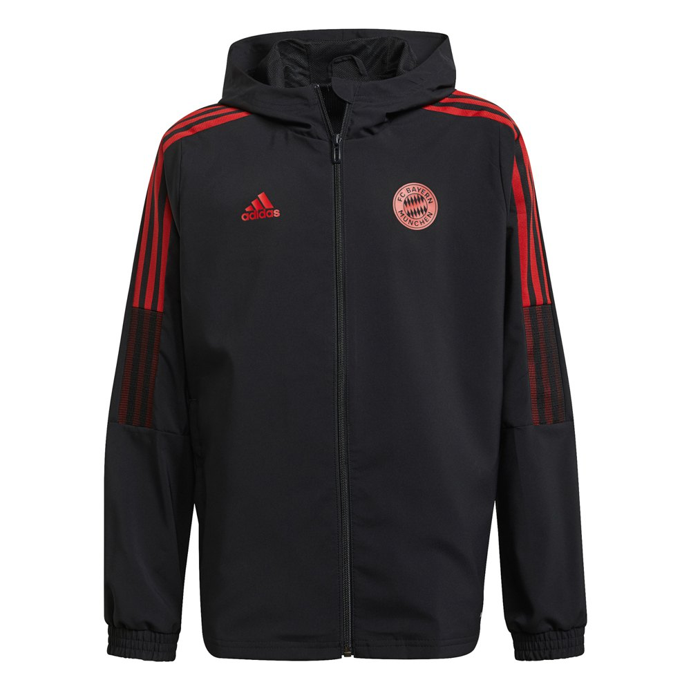 Adidas Veste Survêtement Fc Bayern Munich 21/22 Junior 128 cm Black