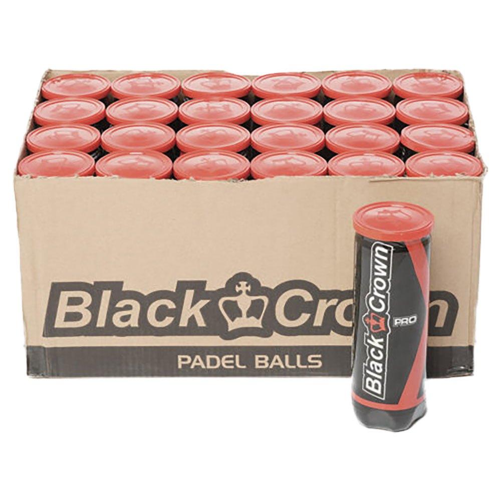 Black Crown Boîte Balles Padel 24 x 3 Balls Yellow