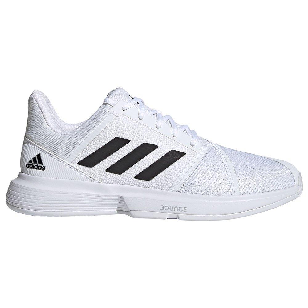 Adidas Chaussures Courtjam Bounce EU 42 2/3 Ftwr White / Core Black / Silver Metalic